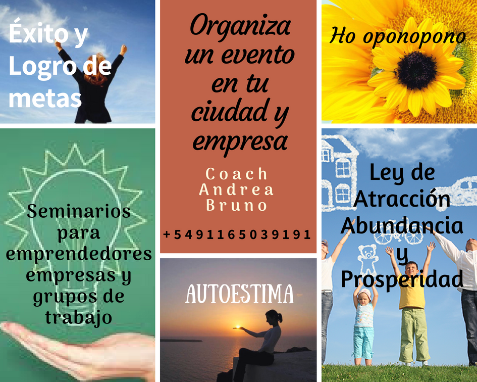 Organiza un Evento con Andrea Bruno en tu ciudad
