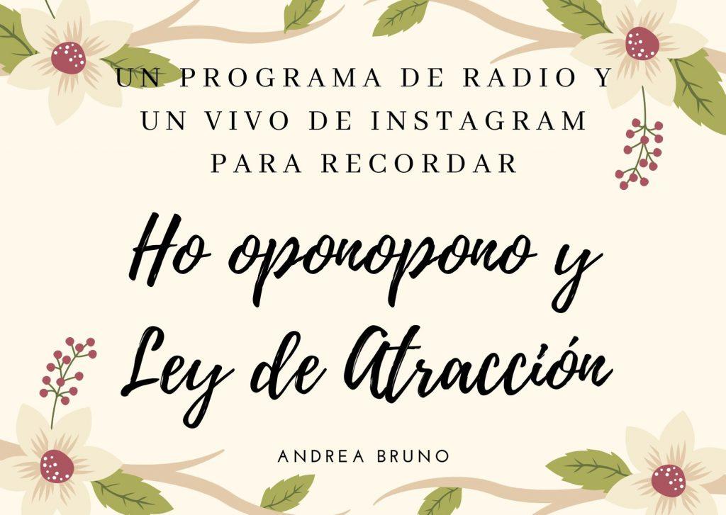 Ho oponopono y Ley de Atracción en español